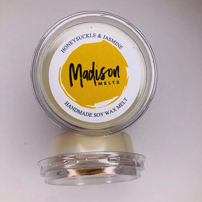 Honeysuckle & Jasmine Soy Wax Melt Pot - Scented Soy Wax Melts | Wax Melt Warmers - MadisonMelts