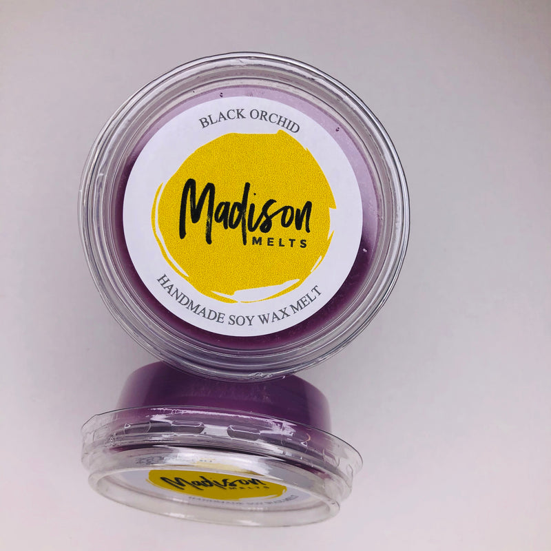 Black Orchid Soy Wax Melt Pot - Scented Soy Wax Melts | Wax Melt Warmers - MadisonMelts