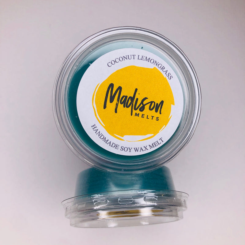 Coconut Lemongrass Soy Wax Melt Pot - Scented Soy Wax Melts | Wax Melt Warmers - MadisonMelts
