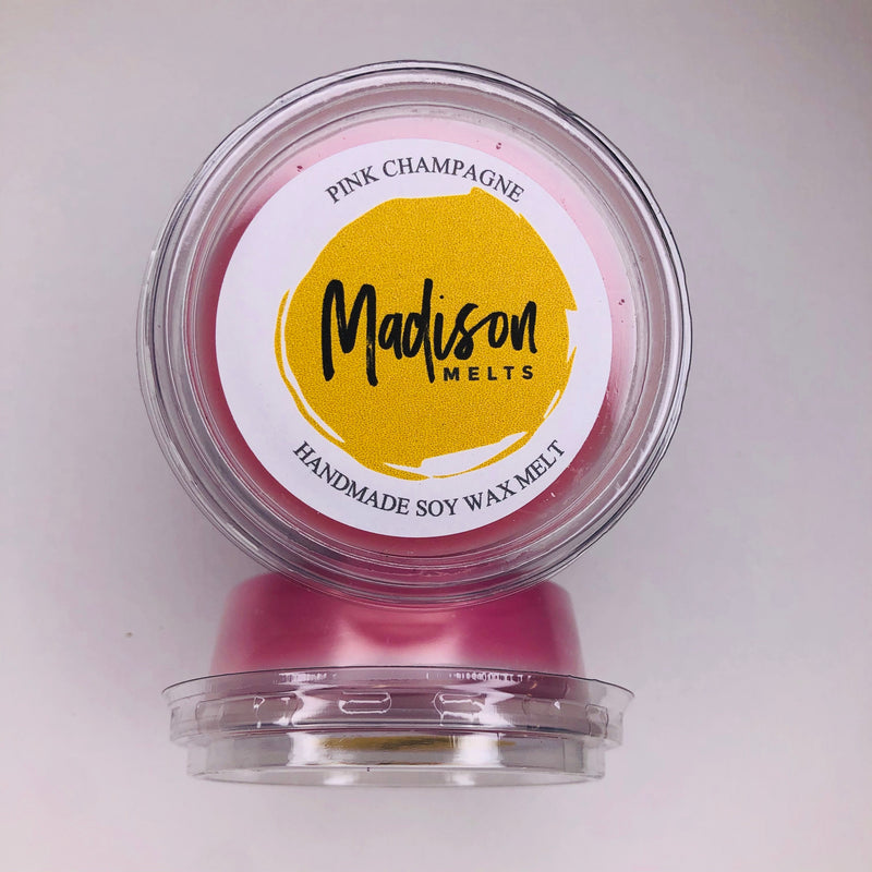 Pink Champagne Soy Wax Melt Pot - Scented Soy Wax Melts | Wax Melt Warmers - MadisonMelts