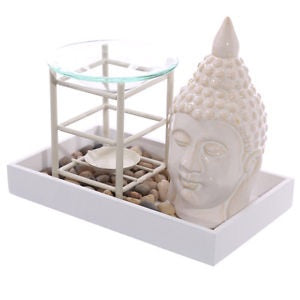 Buddha Tray Wax Warmer With Pebbles
