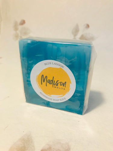 Blue Lagoon Soap Slice