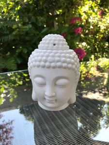 White Buddha Head Wax Warmer