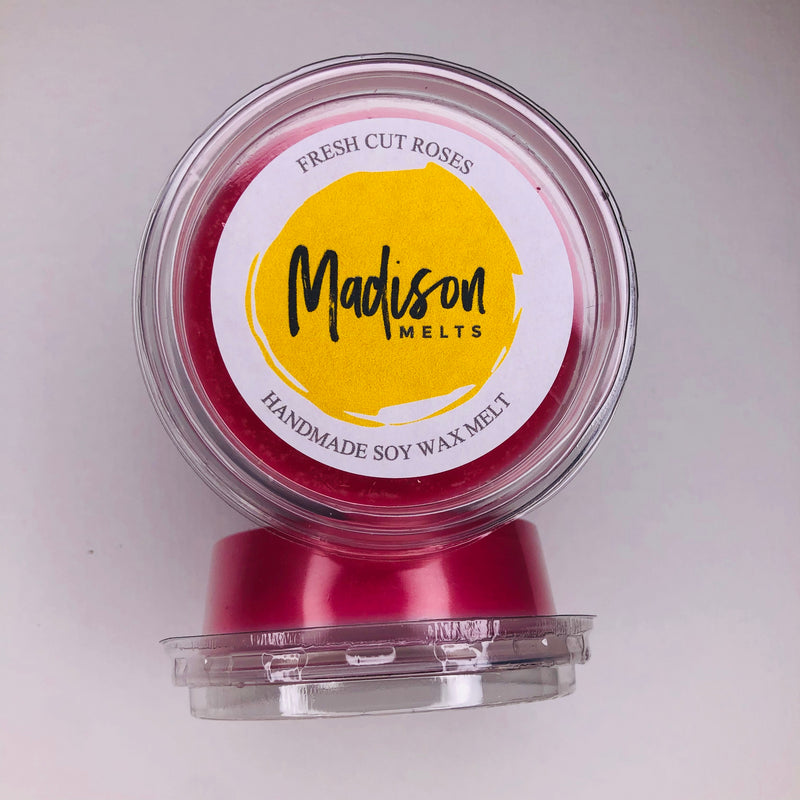 Fresh Cut Roses Soy Wax Melt Pot - Scented Soy Wax Melts | Wax Melt Warmers - MadisonMelts