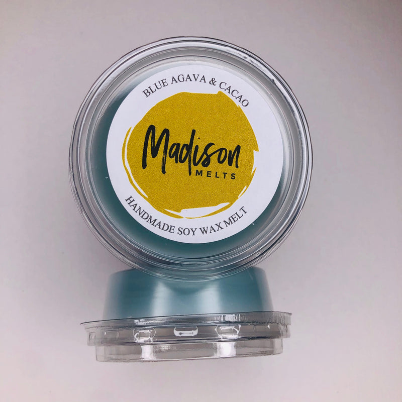 Blue Agava & Cacao Soy Wax Melt Pot - Scented Soy Wax Melts | Wax Melt Warmers - MadisonMelts