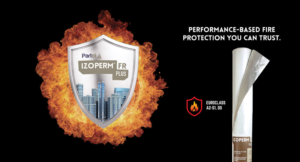 PARTEL SECURES STRUCTURAL FIRE SAFETY WITH THE IZOPERM PLUS FR CLASS A2 PRODUCT SYSTEM
