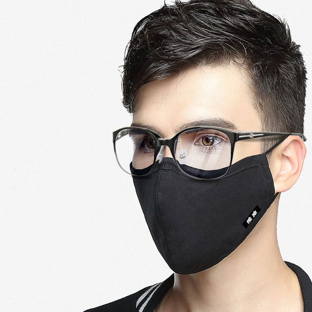 Cotton Mouth Face Mask Anti-Dust with Activated Carbon Filter