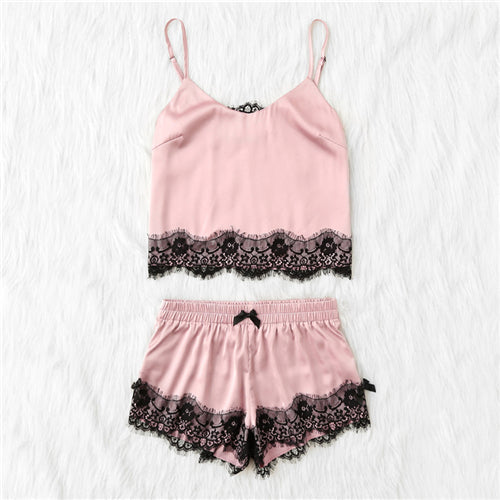 Pink Panther Satin Cami Top and Shorts