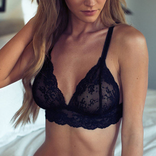 Sexy Women V-Neck Bra Set
