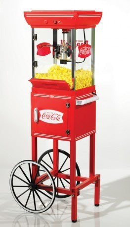 Nostalgia Electrics CCP-399 COKE Popcorn Machine and Cart