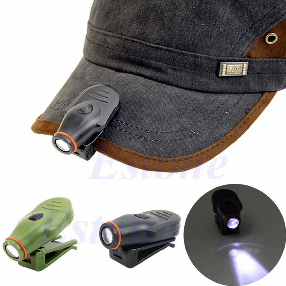 Clip-on LED Cap Light Headlamp Fishing Camping Hunting Outdoor
