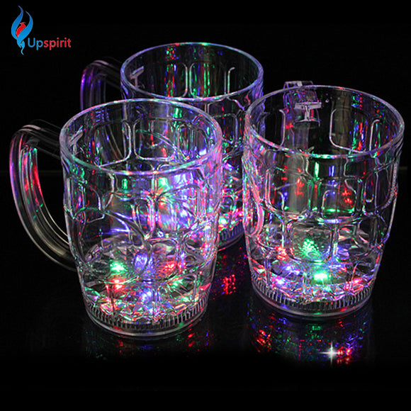Most Popular Cups And Mugs With Flash LED Plastic Travel Mug Plastic Drinkware Tea Water Bottle Coffee Cup Tea Cups Beer Mug