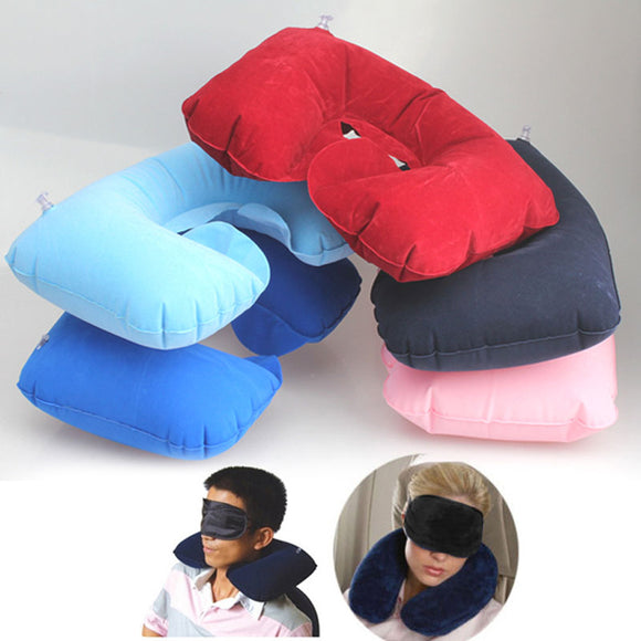 3 in1 Travel Set Inflatable Pillow Neck Cushion + Eye Mask+ Earplug
