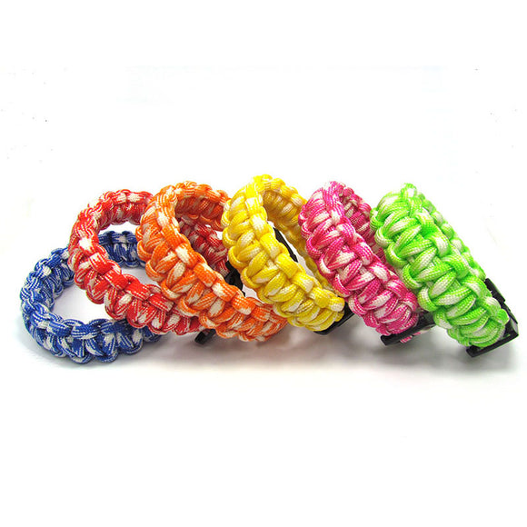12Pcs/Lot  Sports Braided Fashion Outdoor Camping Bracelet