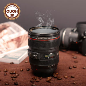 New Camera Lens Coffee Mug Cup Without Lid Black Plastic 16.2oz.  M126  MUG-20