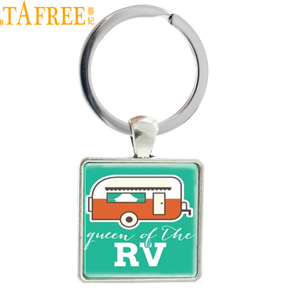 Camping Jewelry Queen of the RV keychain