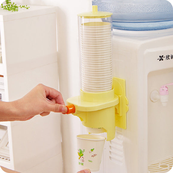 Water dispenser cup holder