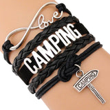 Camping Charm Bracelets Women Men Unisex Jewelry