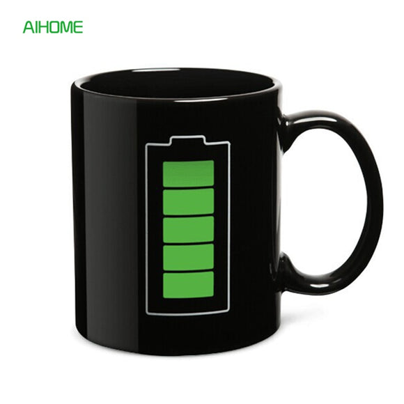 Color Changing Battery Coffee Mugs Cold Hot Temperature Sensor Milk Cup Creative Drinkware