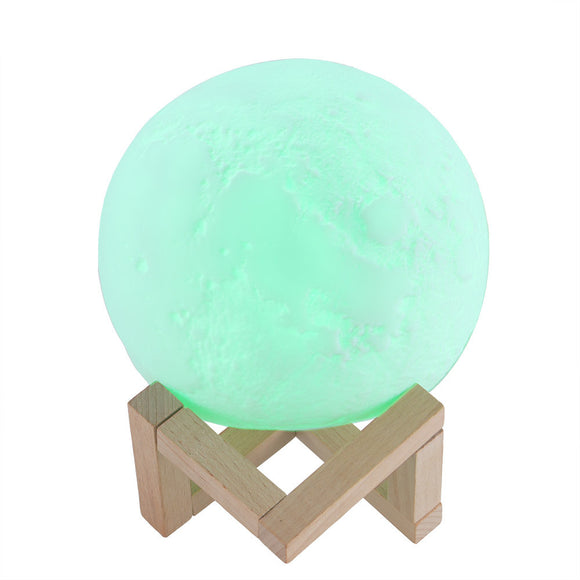 Magic 3D Printing LED Moon Lamp Color Changing Remote Touch Control Night Light