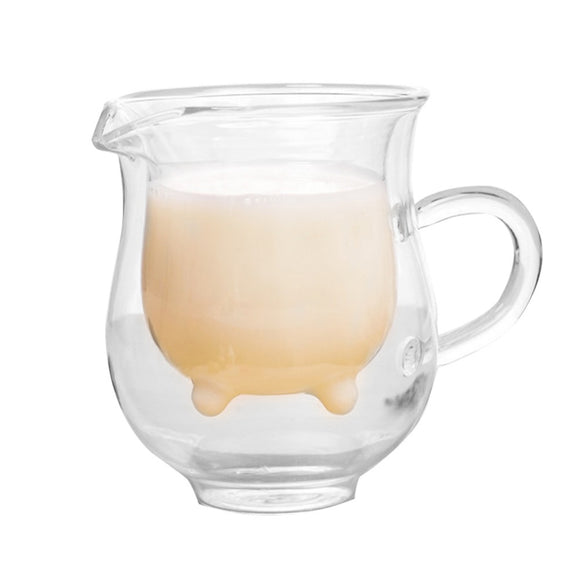 7.5oz. Creative Double Wall Glass Coffee Cup Milk Mugs Transparent Heat Resistance Water Cup Unique Drinkware