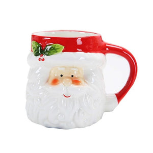 Christmas Ceramics Mug Cup Lovely 3D Animal-Shape Milk Coffee Cup Innovative Cartoon Pattern Cup without Cover