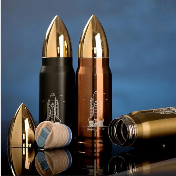Stainless bullet cup 13.5oz. rocket vacuum flask bottle Men heat cold insulation coffee milk mug cup drinkware