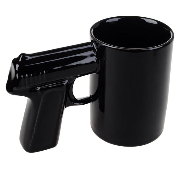 Free Shipping 1Piece Pistol Grip Coffee Cups And Mugs Funny Gun Mug Milk Tea Cup Creative Office Ceramic Coffee Mug Drinkware