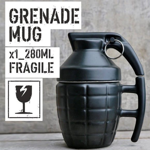 Creative Grenade Coffee Mugs Practical Water cup with Lid Funny Gifts