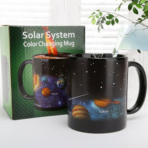 Newest Star Solar Style Ceramic System Changing Color Milk Cup Coffee Mugs #0622