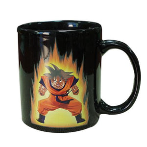 Dragon Ball Color Change Ceramic Mug Goku Cartoon Novelty Heat Reactive Coffee Cup Z Colored Changing Magic Cups