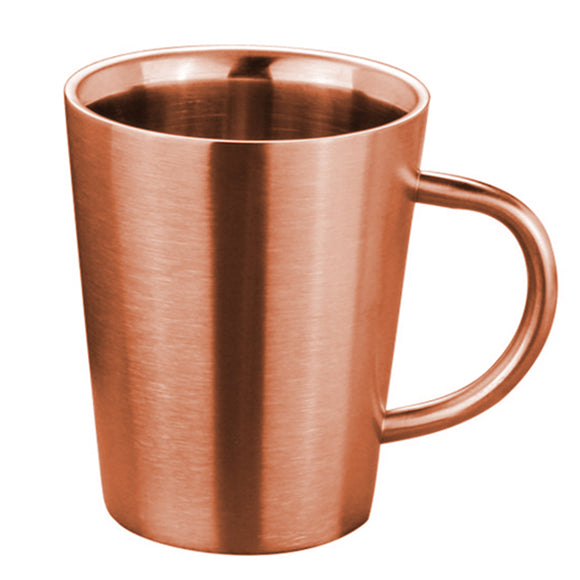 Silver Gold 12oz. Coffee Mug Cup Double Layers High Temperature Resistance Milk Tea Mug Bottle Jug Drinkware Stainless Steel