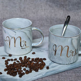 Romantic Milk Coffee Mugs Couples Bottle Mug With Handgrip For Ceramic Mugs Tea Cup Water Cup Kitchen Accessories