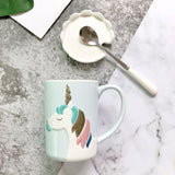 Cartoon Horse Ceramic Coffee Mug Water Cup Nordic Style Animals Milk Drinks Mug Portable Drinkware Christmas Gifts 10oz.