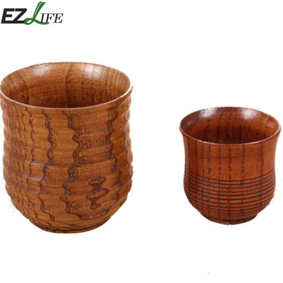 Chinese Style Handmade Natural Wood Mug Wooden Cup Mug Breakfast Milk Coffee Cup Drinkware Kitchen Cup Mugs Accessories CRM9587