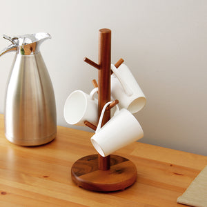 ORZ High Quality Cup Hanger Tree Shape Wood Coffee Tea Cup Storage Holder Stand Home Kitchen Mug Hanging Display Rack