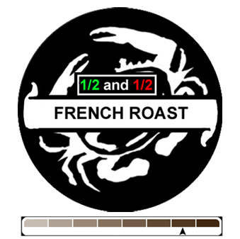 1/2 and 1/2 French Roast, 1 lb (16 oz)