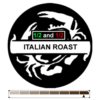 1/2 and 1/2 Italian Roast, 1 lb (16 oz)