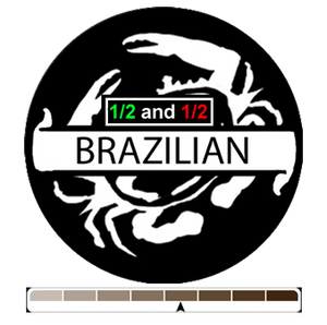 1/2 and 1/2 Brazilian, 1 lb (16 oz)