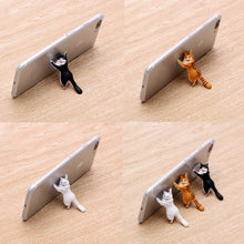 The Hardworking Cat Phone Stand