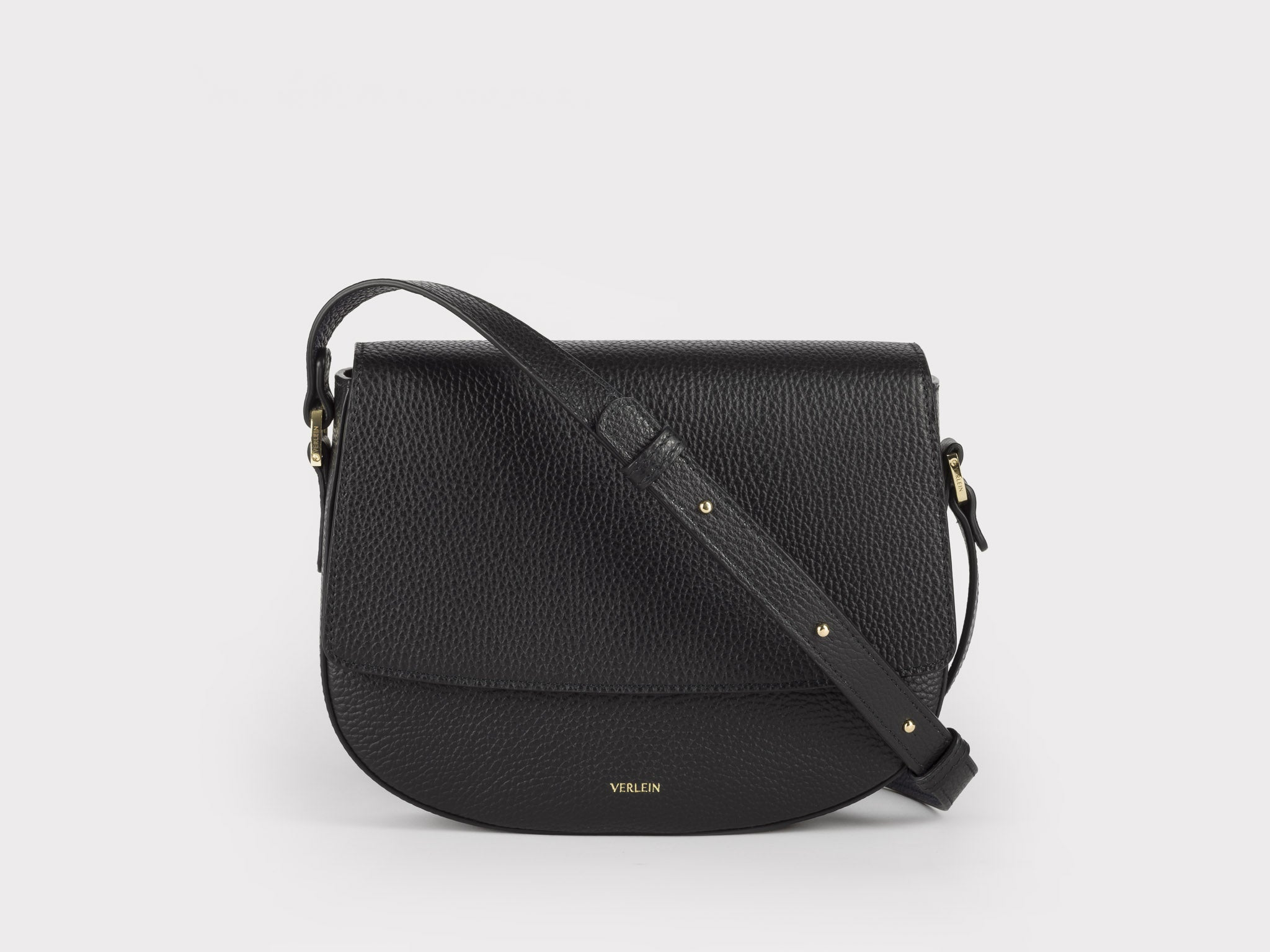 Ana Cinch Crossbody Bag in Jet Black | Verlein