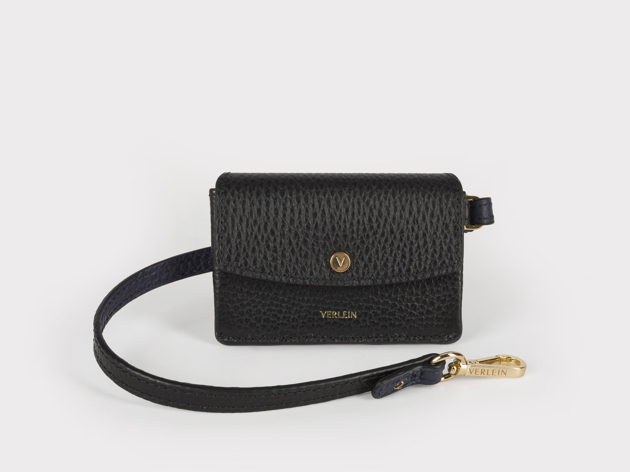 Ines Cinch Coin Purse in Jet Black | Verlein