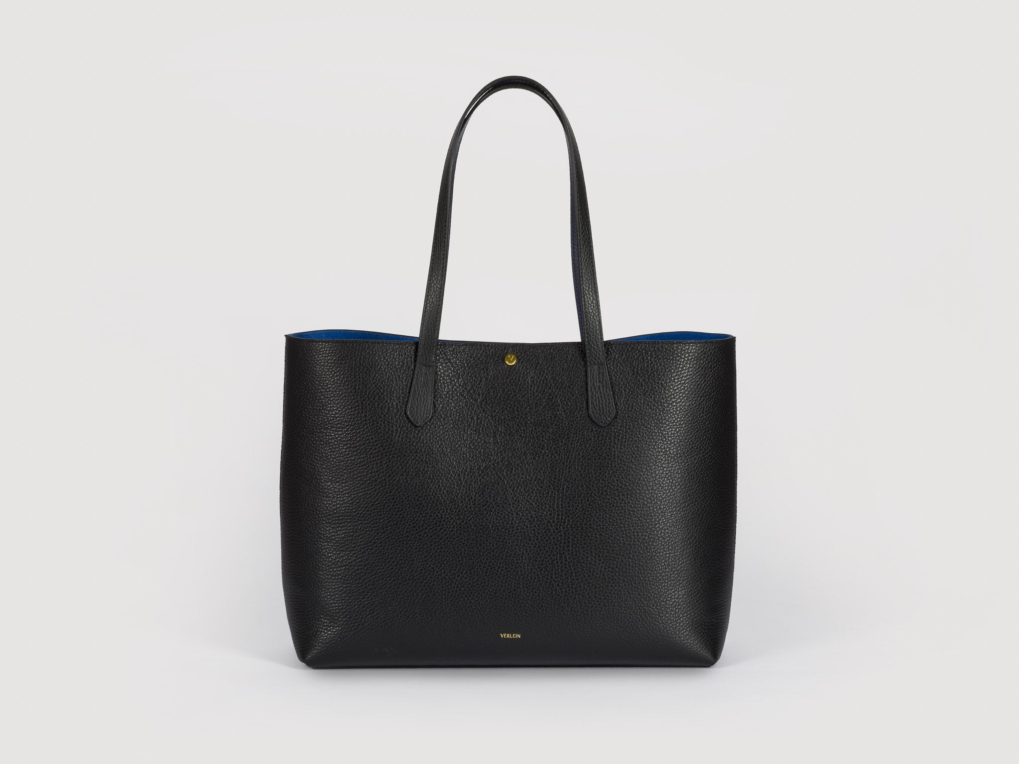 Julia Cinch Tote Bag in Jet Black