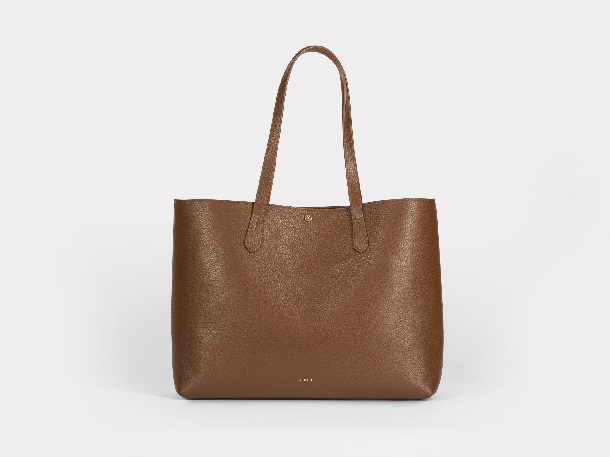 Julia Cinch Tote Bag in Chocolate Brown | Verlein