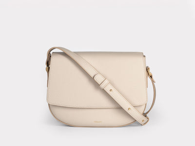 Ana  Crossbody by Verlein, in Crema.  Front view.