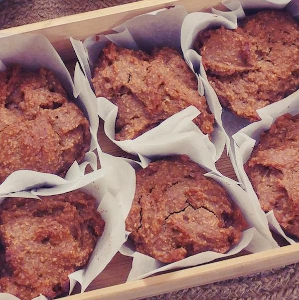 No Stress Egg-less Raw Honey Muffins