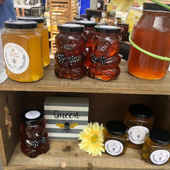 Orange Blossom Honey, Wildflower Honey. All our local honey is in glass jars, including bear jars. Healthy sugar alternative is raw Honey from Florida's Finest Raw Honey