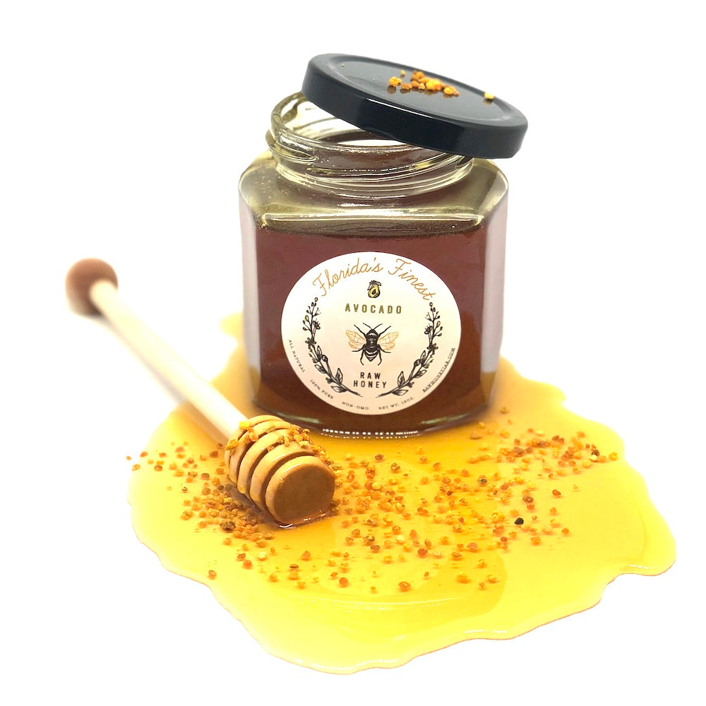 Is honey good for you? Try dark raw avocado honey which has a good bee pollen consistency in it and carries great health benefits.