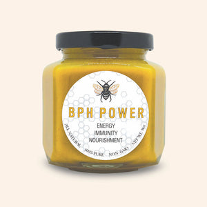 BPH Power immune system boost, fights free radicals, decrease premature aging. Strong antibiotic, keep your skin smooth, supple. Naturals from beekeepers