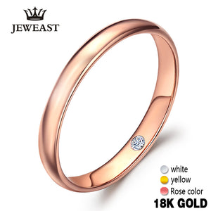 18k Pure Gold Lovers Pair Ring Real 750 Rose Romantic ring - Jewelrygem
